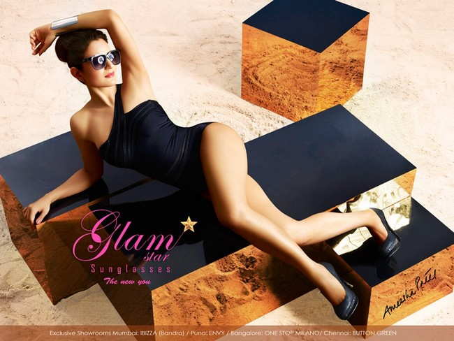 Ameesha Patel has shot a sexy ad-campaign for a brand of sunglasses...Check out the Gadar girl in her sexy avatar
