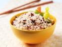 Egg white and brown rice salad