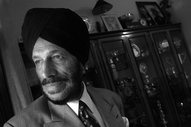 Milkha SinghThe Flying Sikh who still remains one of India's premier athletes ,having represented our country during the 1960 and 1964 Olympic Games.