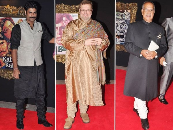 It was nice to see some sherwanis and kurtas on the red carpet.Images courtesy: Viral Bhayani