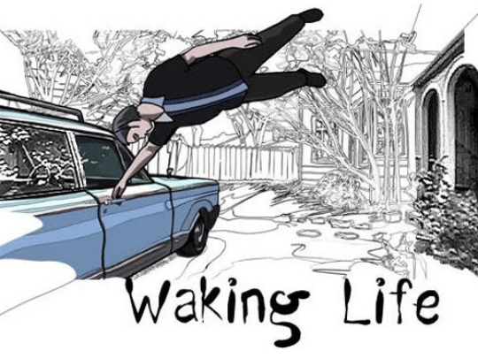Waking Life:Waking Life is about a guy dreaming and trying to find the meaning of life and whether the dream world is a figment of our imagination or if it's the other way around. It takes you through his journey to wake up from his sleep, all the while bumping into random people who give him certain snippets, or elucidate on his question a bit further and give the whole thing a wider perspective. Caution though, this movie will make you ponder over your own existence and the way you lead your life.
