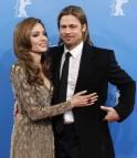 Jolie and Pitt arriving at 62nd Berlinale International Film Festival