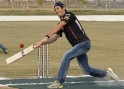 Mark Webber Plays Cricket