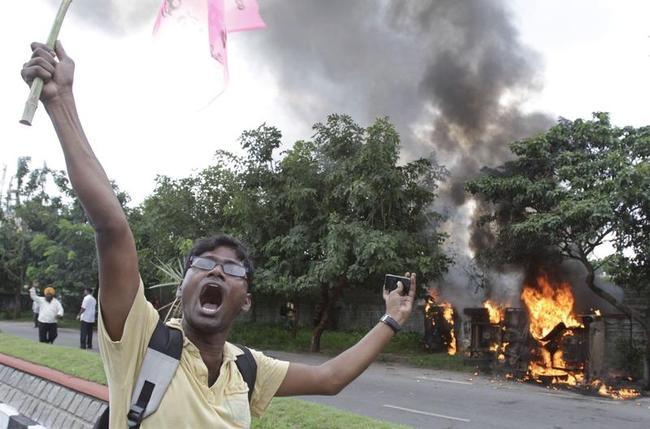 Telengana Protest