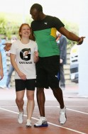Usain Bolt in 'Holiday Mode'