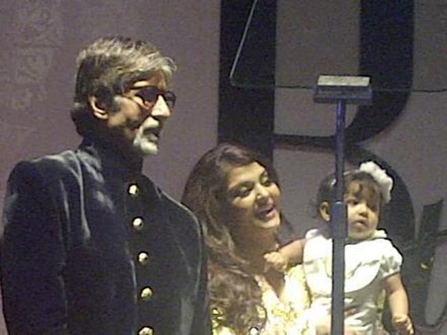 Amitabh, Aishwarya and Aradhya Bachchan