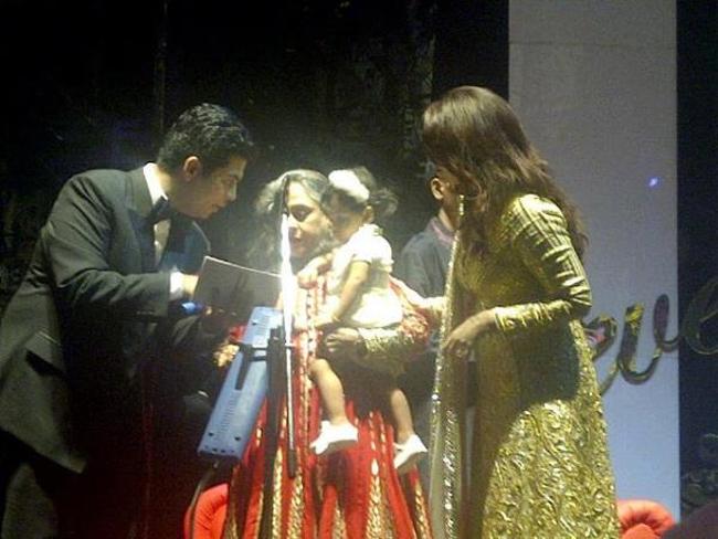 Karan Johar, Jaya, Aradhya and Aishwarya