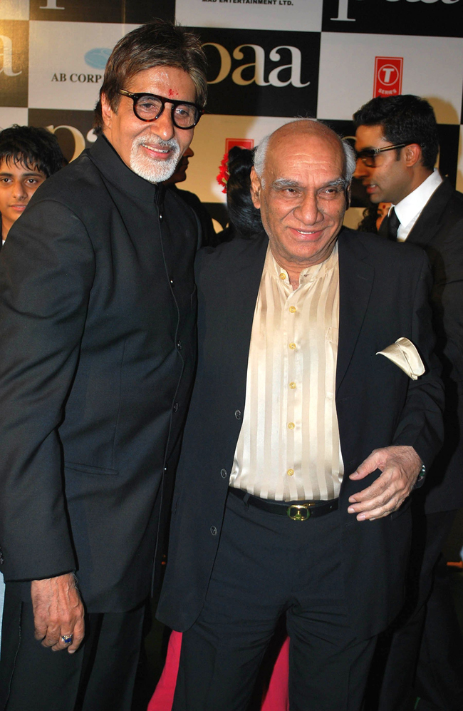 Yash Chopra and Amitabh Bachchan