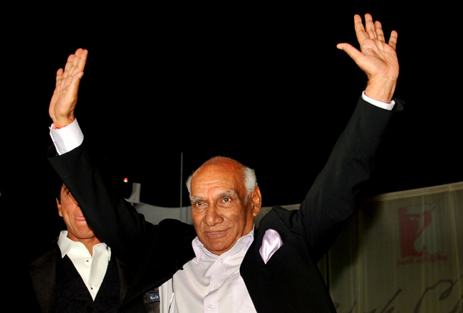 Yash Chopra on his 80th borthday, in Mumbai, on 27th September 2012.