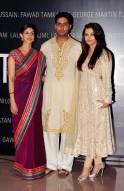 Shweta, Abhishek, Aishwarya