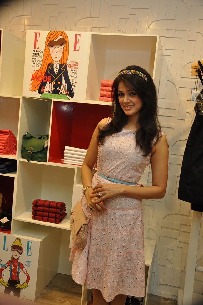 A French fashion brand launched their new store in Mumbai with a preview of their fall-winter collection from the Paris Fashion Week.Courtesy: ELLE FashionwearPresent at the event were Vidya Malvade, Preeti Jhangiani, Shibani Dandekar, Mia Uyeda, Dipannita Sharma, Priyanka Bose, Pria Kataria Puri, Cecilia Oldne, Nishka Lulla, Suzanne Sablok, Gaurav and Preeti Mahajan.(PIC) Vidya Malvade
