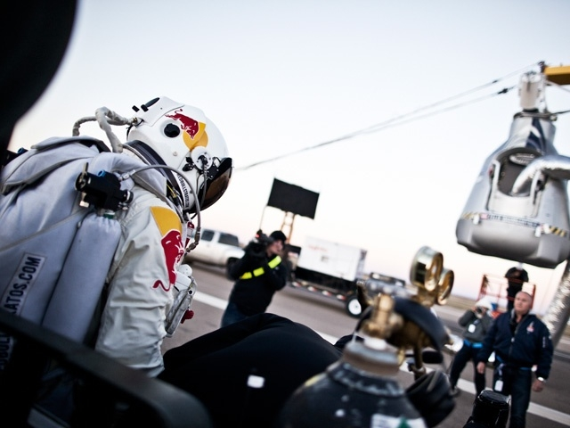 After flying to an altitude of 39,045 meters (128,100 feet) in a helium-filled balloon, Felix Baumgartner completed a record breaking jump for the ages from the edge of space