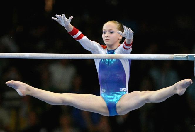 Russian artistic gymnast Ksenia Semenova was born on October 20, 1992 in Novomoskovsk, Russia. (Photo: Getty Images)