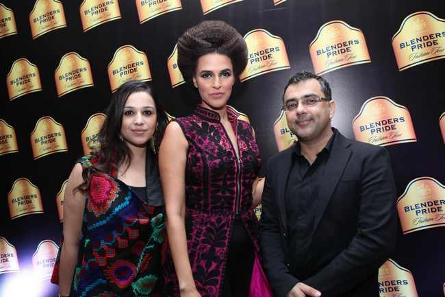 Neha Dhupia with Pankaj and Nidhi