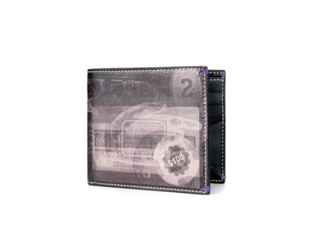 Paul Smith X-Ray print leather billfold wallet