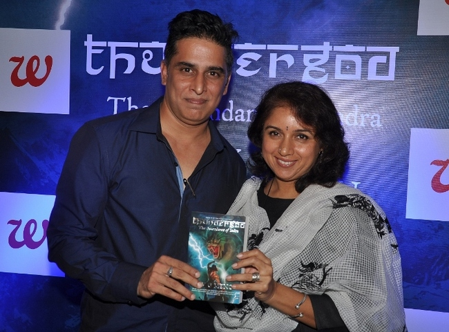 Revathi launched author Rajiv G Menons book, Thundergod: The Ascendance of Indra at a lounge in Mumbai. There was also a book reading by Nikhil and Purab