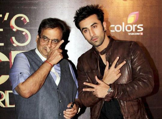 Subhash Ghai and Ranbir Kapoor