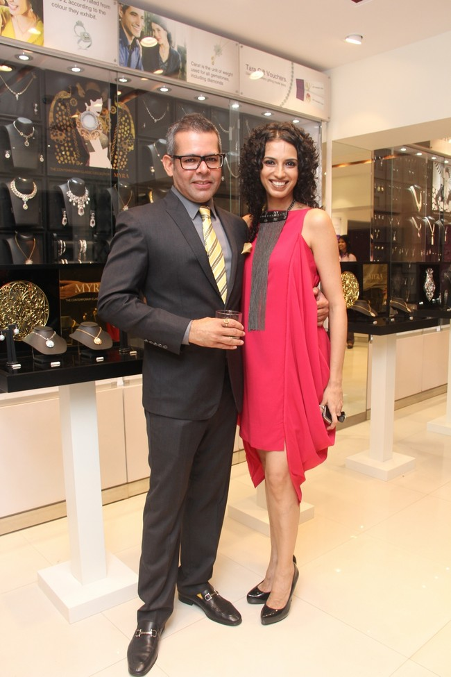 Vikram Raizada and Rajeev Seth hosted a grand bash to announce the launch of the Myra Collection at the Bandra store of their jewelry brandCourtesy: Tara Jewellers