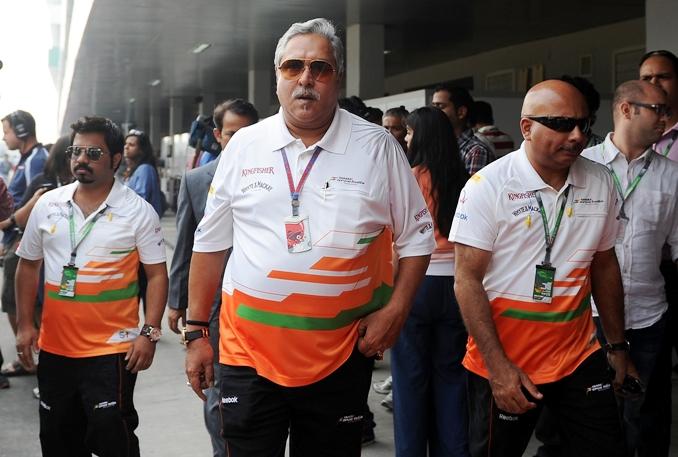 Sahara Force India co-owner Vijay Mallya at the Buddh International Circuit. (Photo: AFP)