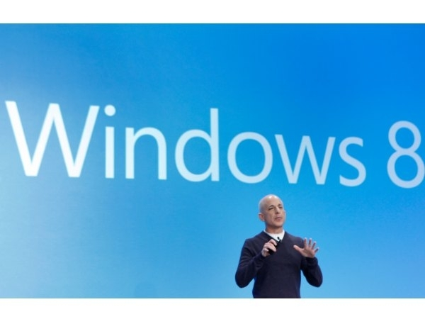 Steven Sinofsky speaks at the launch of Windows 8 operating system in New York. Microsoft has made a limited time-only offer, where you can upgrade from XP, Vista and 7 to Windows 8 Pro for Rs. 1,999. The cut-off date for this offer is Jan 2013.