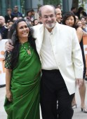 Director Mehta and author Rushdie arrive at the gala presentation for