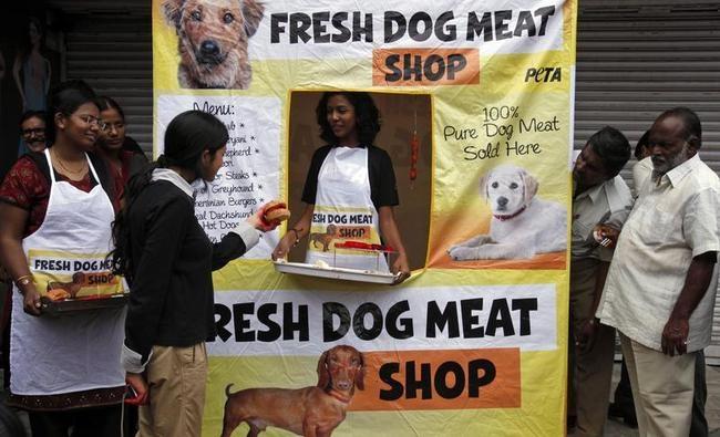 PETA's 'dog-meat shop'