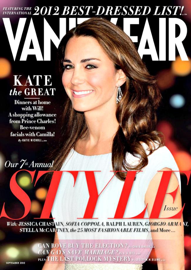 The Duchess of Cambridge Kate Middleton for Vanity Fair magazine - September 2012