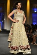 Model in a Falguni and Shane Peacock creation