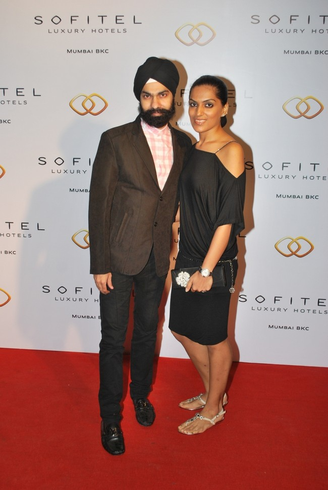 A.D Singh with wife Puneet