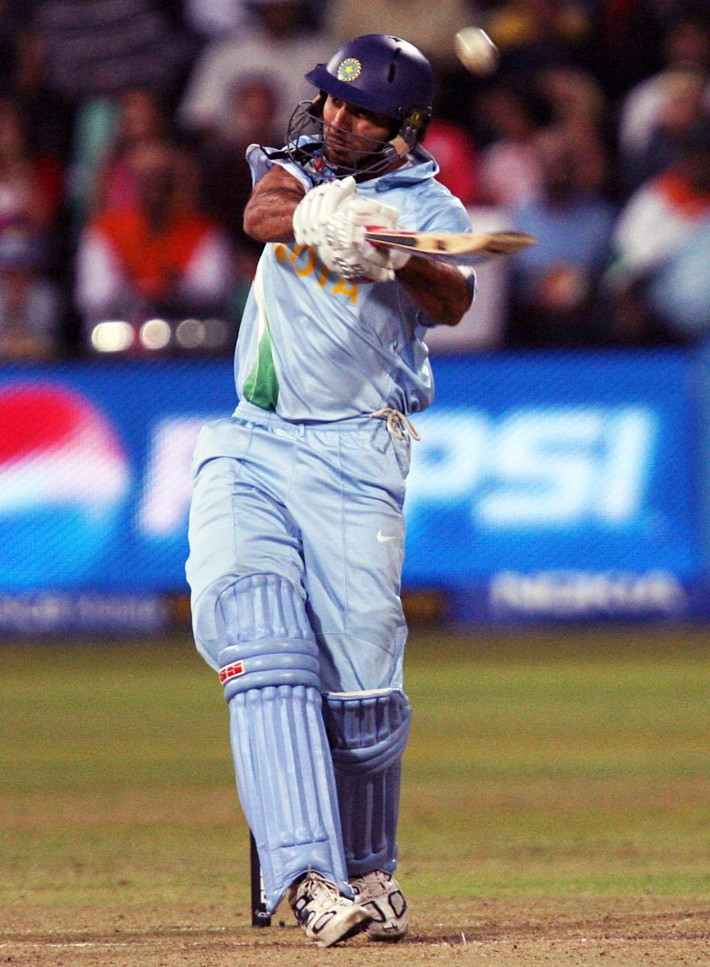 Yuvraj Singh is the only batsman to hit 6 sixes in an over versus England in the 2007 World Twenty20. (Photo: AFP)