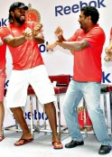 Chris Gayle and Muttiah Muralitharan
