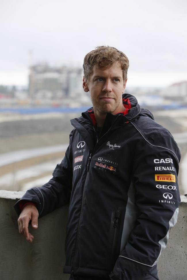 Sebastian Vettel at Sochi Formula One Circuit