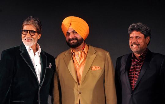 Amitabh Bachchan, Navjot Singh Sidhu, Kapil Dev