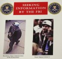 Photos of a suspect in the Boston Marathon bombings are seen during a news conference in Boston, Massachusetts