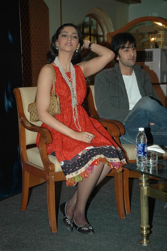 Sonam Kapoor with Ranbir Kapoor