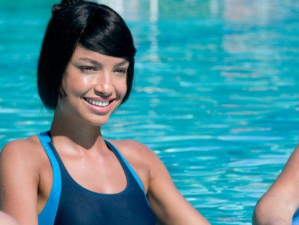 zumba in pool