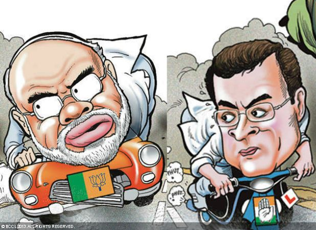 The 2014 road to Race Course RoadParts of a larger cartoon published in The Times of India on September 18, 2011.