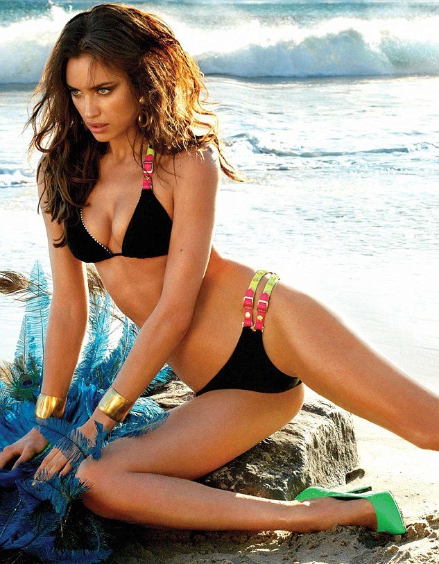 Check out the scorching-hot Russian model, Irina Shayk, best known for her sizzling appearances in the Sports Illustrated Swimsuit Issues, in her bootylicious bikini avatars...