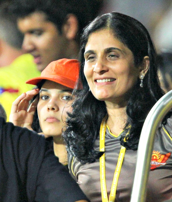 Kalanithi Maran's wife Kaveri seen among the crowd during the IPL match against Chennai Super Kings at the MA Chidambaram Stadium in Chennai. (Photo: PTI)