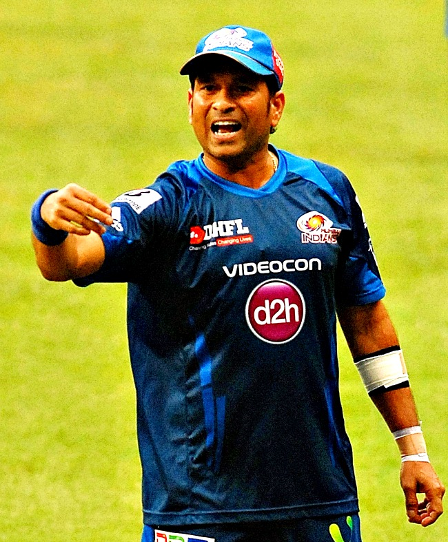 Sachin Tendulkar looks animated during the practice session. (Photo: BCCL)