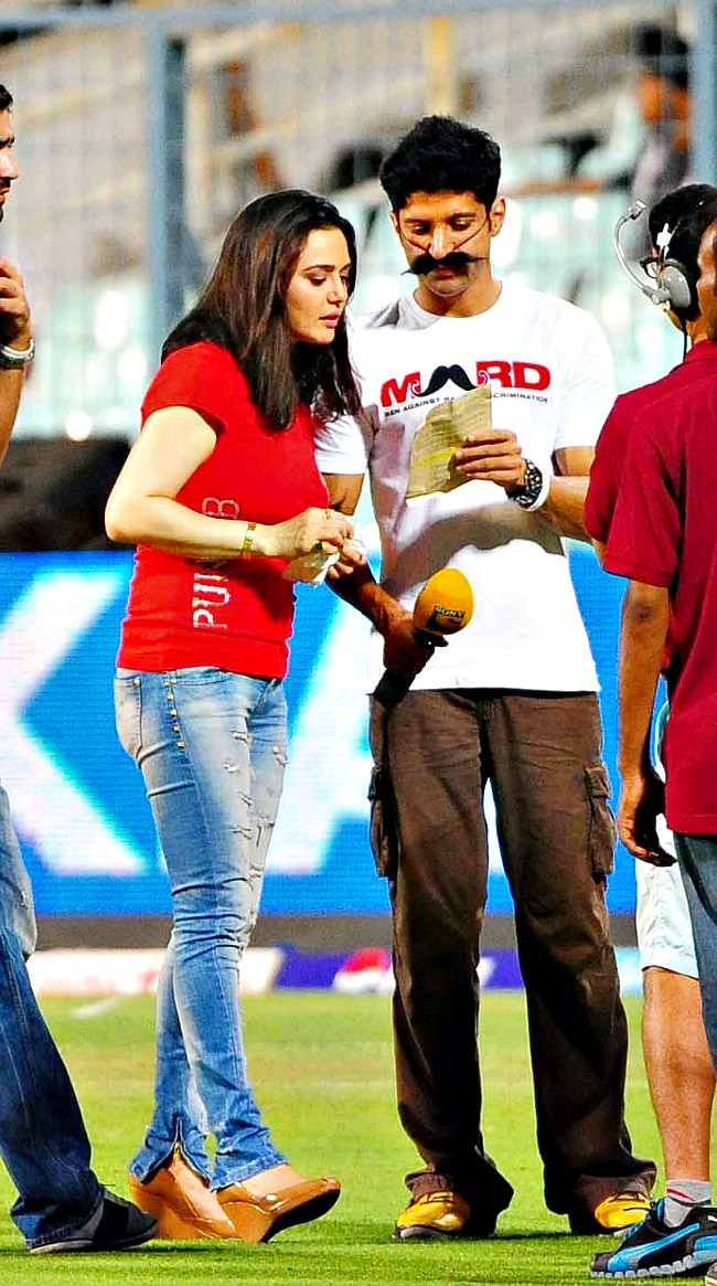 Preity Zinta and Farhan Akhtar