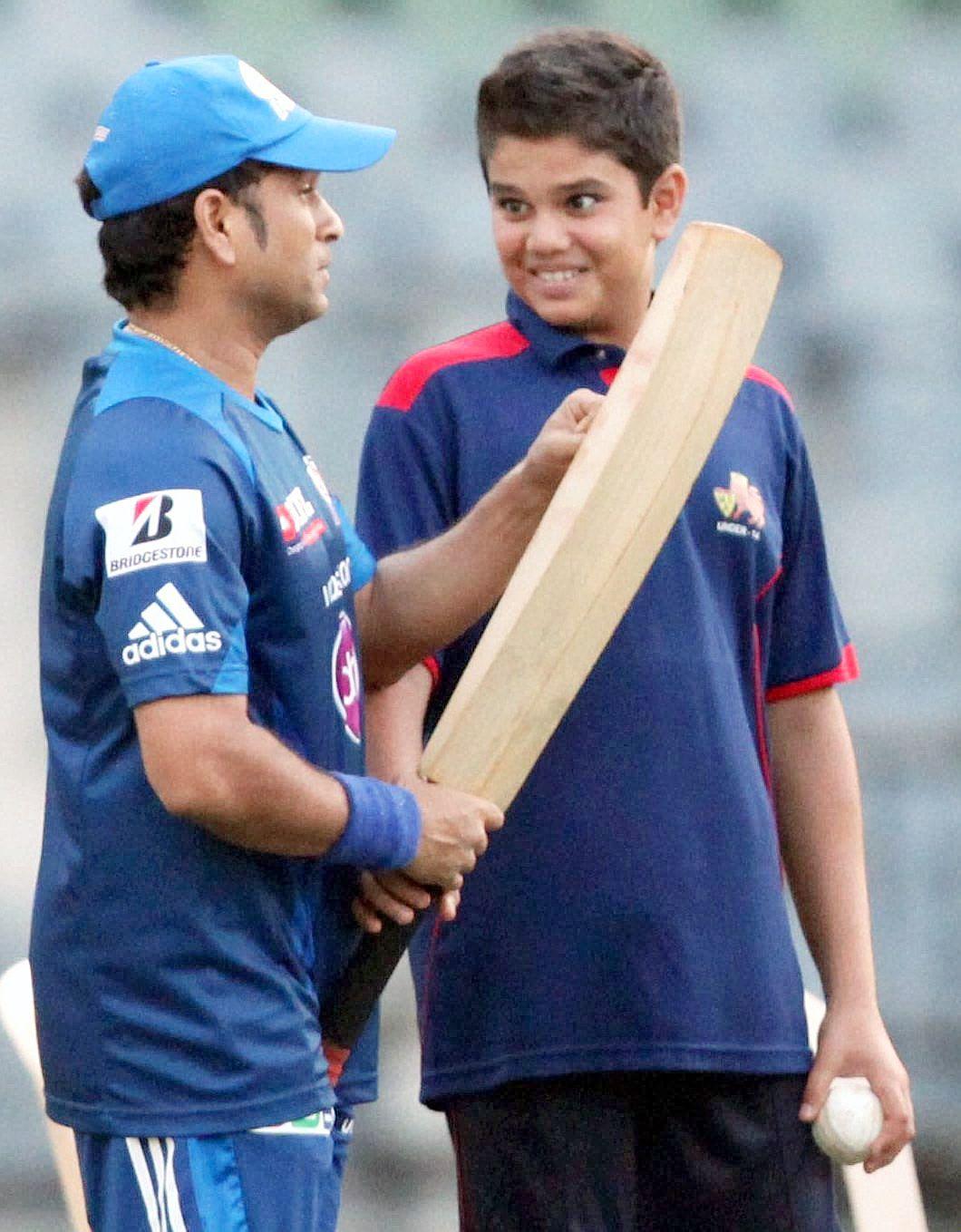 Sachin Tendulkar and Arjun