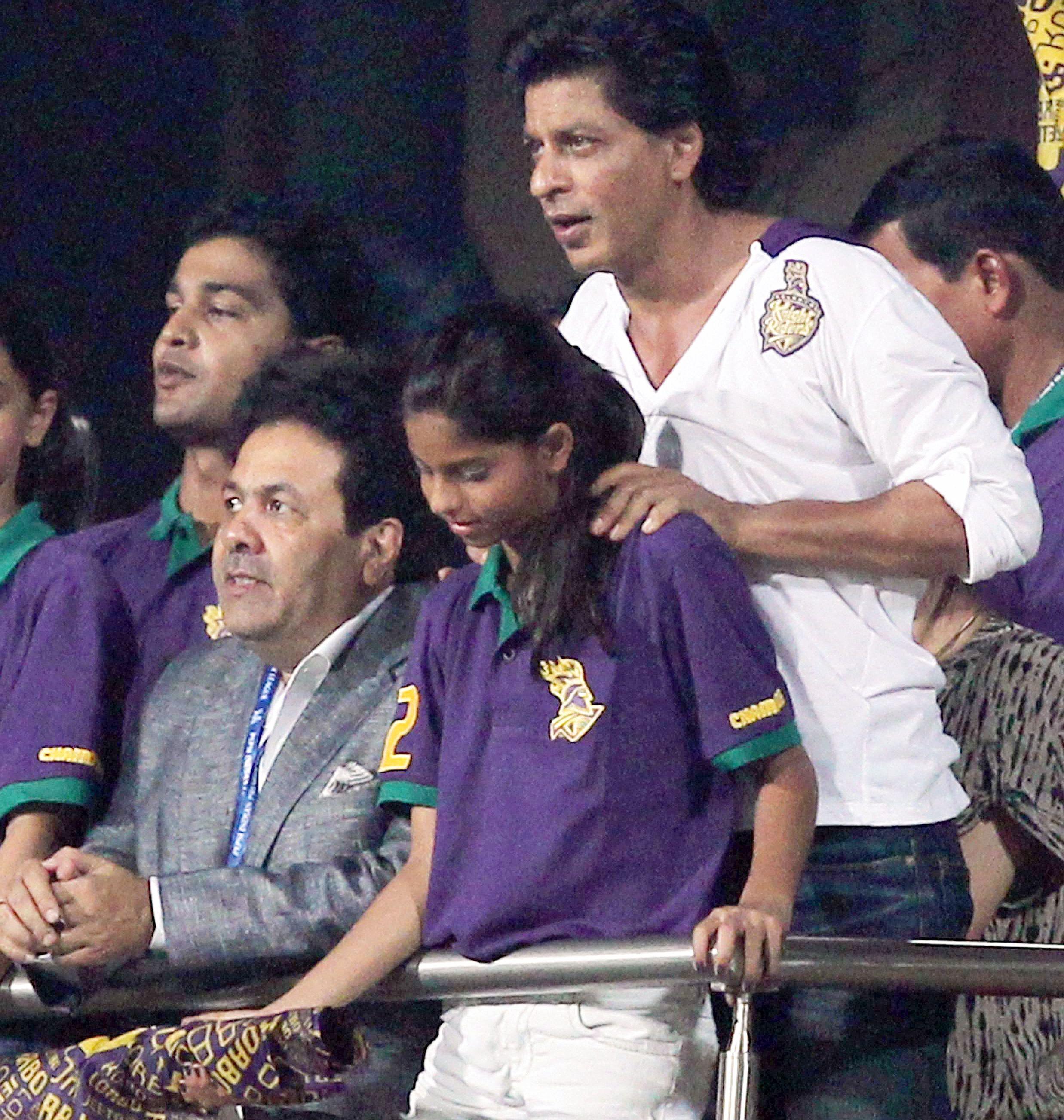 Shah Rukh Khan and Rajeev Shukla