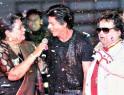Shah Rukh Khan, Bappi Lahiri and Usha Uthup