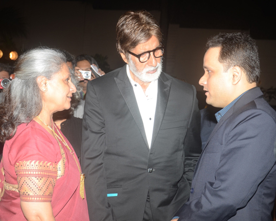 Jaya, Amitabh Bachchan and Amish Tripathi