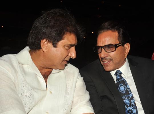 Raj Babbar and Dharmendra