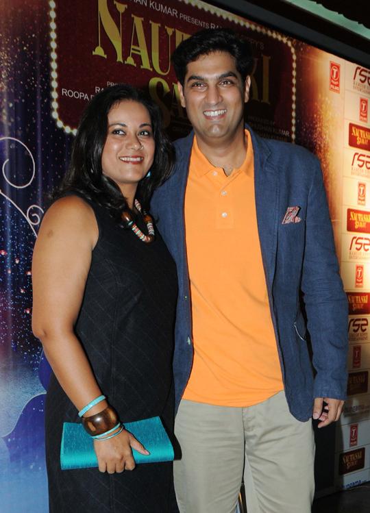 Kunaal Roy Kapur with wife