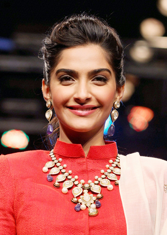 Sonam Kapoor walks the ramp at Delhi's first edition of India International Jewellery Week (IIJW), in New Delhi.
