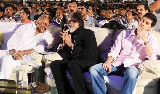 N Kiran Kumar Reddy with Amitabh Bachchan and Mahesh Babu