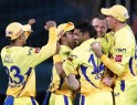 Chennai Super Kings players celebrate